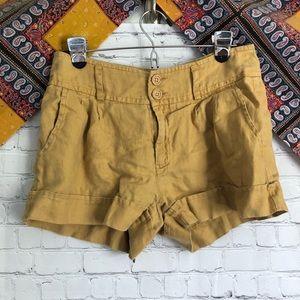 Anthropology yellow shorts